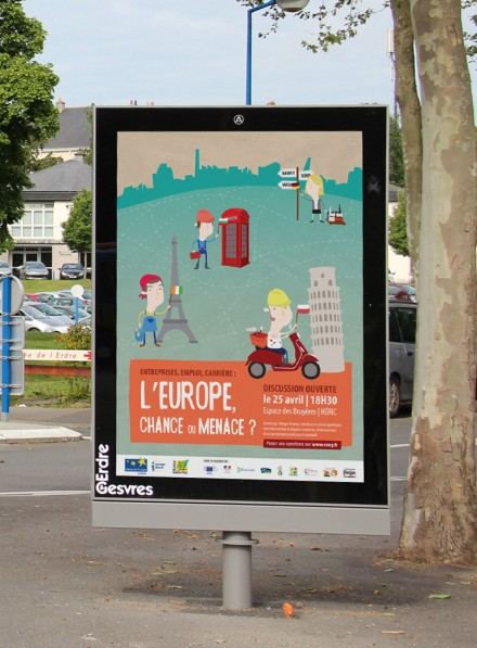Affiche forum/débat Europe